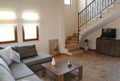 Dalyan Villa with spacious living area with double height ceiling